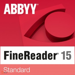PDF processing(and OCR): ABBYY FineReader 15 Standard 1PC WIN