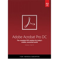 PDF processing(and OCR): Adobe Acrobat Professional DC Multi-Language 1User 1Year