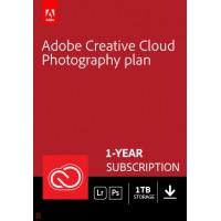 Adobe Photography Plan (Photoshop CC + Lightroom CC) | 1 User | 1year | 1TB cloudstorage