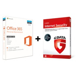 Voordeelbundel: Office 365 Personal + G-Data Internet Security 1PC 1Jaar