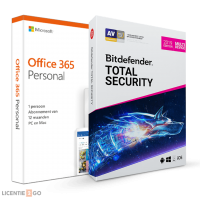 Voordeelbundel: Office 365 Personal + Bitdefender Total Security 5 apparaten 1 jaar