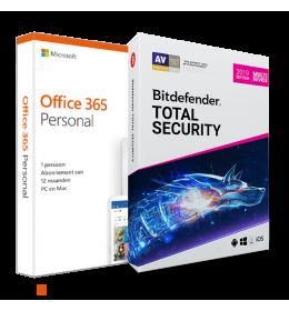 Voordeelbundel: Office 365 Personal + Bitdefender Total Security 5 apparaten 1 jaar
