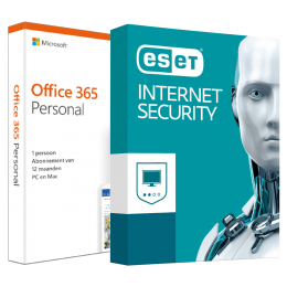 Office (2016) voor Windows PC's: Voordeelbundel: Office 365 Personal + ESET Internet Security Multi Device 5 apparaten 1 jaar
