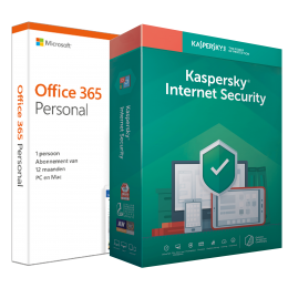 Office (2016) voor Windows PC's: Voordeelbundel: Office 365 Personal + Kaspersky Internet Security 5 apparaten 1 jaar