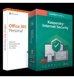 Voordeelbundel: Office 365 Home + Kaspersky Internet Security 5 devices 1 year