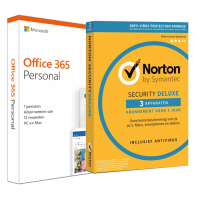 Voordeelbundel: Office 365 Personal + Norton Security Deluxe 3 apparaten 1 jaar