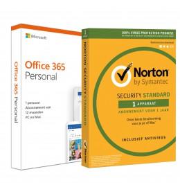 Voordeelbundel: Office 365 Personal + Norton Security Standaard 1 apparaat 1 jaar