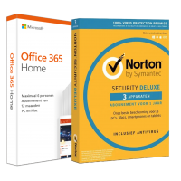 Voordeelbundel: Office 365 Home + Norton Security Deluxe 3 devices 1 year