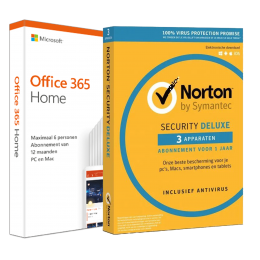 Office (2016) for Windows PC's: Voordeelbundel: Office 365 Home + Norton Security Deluxe 3 devices 1 year