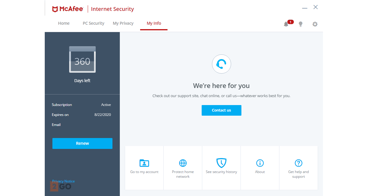 McAfee Internet Security Multi-Device 3-Devices 1year 2019