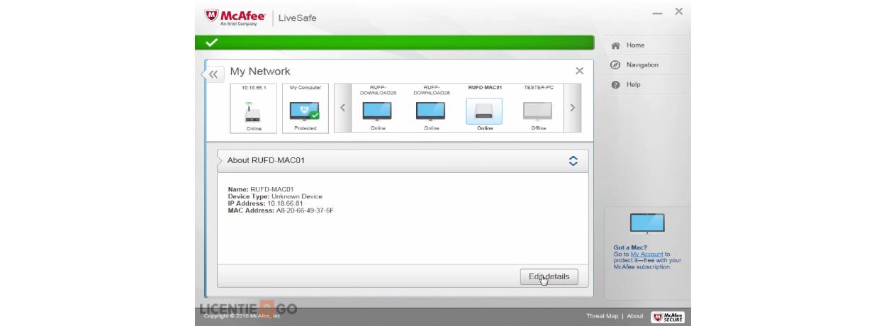 McAfee LiveSafe Screen 3