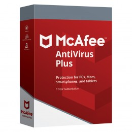 Antivirus: McAfee AntiVirus Plus 10 apparaten 1jaar