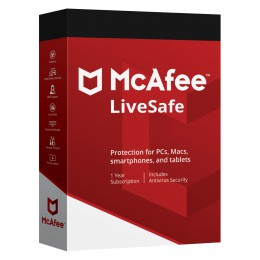 McAfee LiveSafe 2020 unlimited devices 1 year