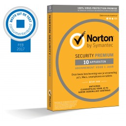 Norton Security Premium 10-Apparaten + 25GB Backup 1jaar