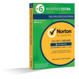Internet Security: Norton Security Deluxe 5-Apparaten 1,5jaar