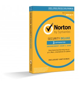 Norton Security Deluxe 3-Apparaten 1jaar 2019 - Antivirus inbegrepen - Windows | Mac | Android | iOS