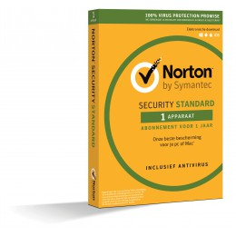 Antivirus: Norton Security Standard 1-Apparaat 1jaar 2019 (OEM)