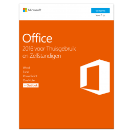 Office (2016) voor Windows PC's: Microsoft Office 2016 Thuisgebruik & Zelfstandigen 1PC Windows