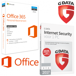 Samen kopen (1 PC): Office 365 & G-Data Security