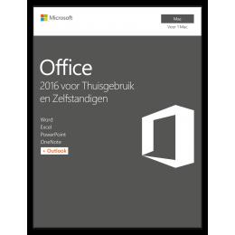 Office voor bedrijven: Microsoft Office voor Mac 2016 Thuisgebruik & Zelfstandigen 1Mac