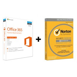 Voordeelbundel: Office 365 Home 5-apparaten + Norton Premium 10-apparaten
